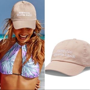 Stone Beige Resting Beach Face Baseball Hat Cap
